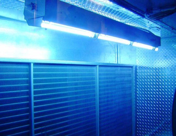 офисный подвесной светильник защищает от микробов в воздухе