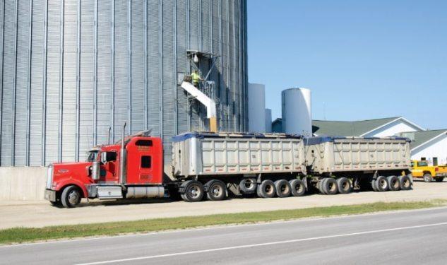 Это выгрузка зерна из элеватора в автомобили - зерновозы