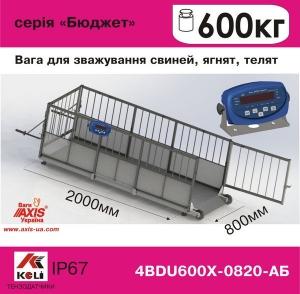 Весы для свиней 4BDU600Х-0820-Б Бюджет