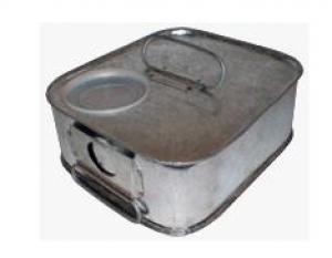 Емкость для хранения зерна из оцинкованного металла