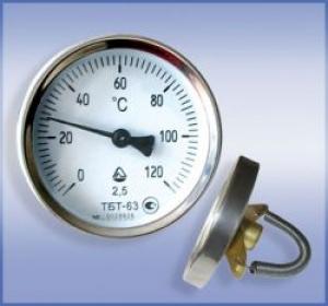 Термометр биметаллический трубный ТБТ