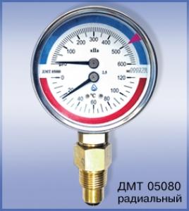Манометры с термометром ДМТ