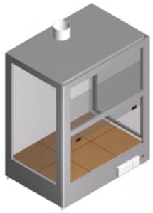 Шкаф вытяжной настольный для работы с агрессивными средами ШВН-1-1