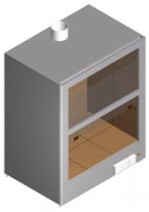 Шкаф вытяжной лабораторный настольный для работы с агрессивными веществами ШВН-1К-1