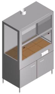 Шкаф вытяжной химический с тумбой для отвода агрессивных газов ШВ-1-1.3