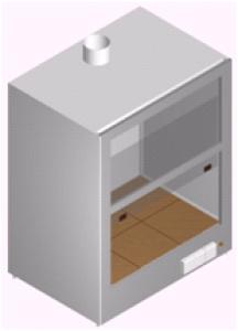 Вытяжной шкаф настольный лабораторный для агрессивных материалов ШВН-1М-1