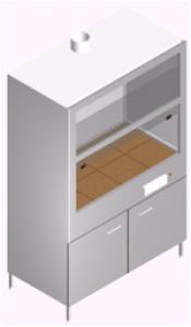 Вытяжной шкаф для лаборатории с тумбой и мойкой ШВ-1МРс-1.3