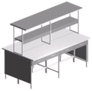 Стол лабораторный островной с выдвижными ящиками СО-1П-ЛЯ-2.2