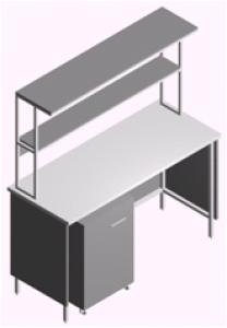 Стол лабораторный пристенный СП-1П-ЛТ-1.5
