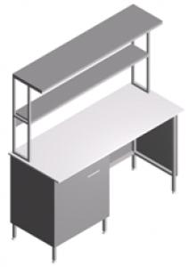 Стол лабораторный пристенный СП-1П-ЛТс-1.5