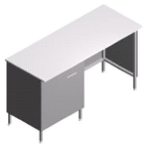 Стол пристенный, лабораторный с тумбой СП-2-ЛТс-1.5