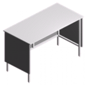 Стол пристенный, открытый лабораторный СП-2-ЛО-1.5