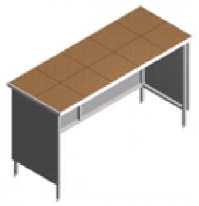 Стол пристенный, открытый лабораторный СП-2-KО-1.5