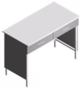 Стол пристенный, компактный лабораторный СП-2-ЛЯ-1.2