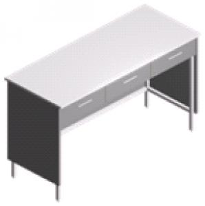 Стол пристенный лабораторный с 3 ящиками СП-2-ЛЯ-1.5