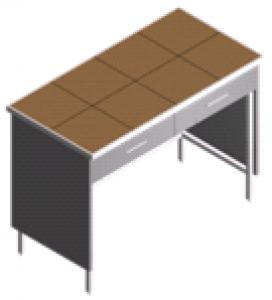 Стол пристенный, укороченный лабораторный СП-2-KЯ-1.2