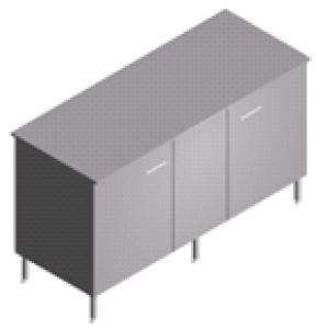 Стол пристенный, лабораторный, со столешницей из нержавейки СП-2-НЗ-1.5