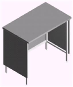 Стол лабораторный под настольный вытяжной шкаф СЛ-1