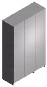 Шкаф лабораторный для одежды, трехдверный ШЛ-3-1.2