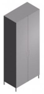 Шкаф лабораторный для газовых баллонов широкий ШБ-2-0,6