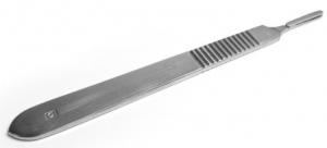 Ручка скальпеля маленькая. Длина 12 см