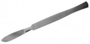 Скальпель брюшистый средний хирургический. Длина 15 см