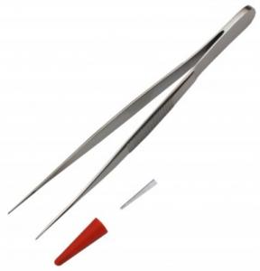 Пинцет анатомический глазной, прямой, 100 мм, диаметр 6 мм