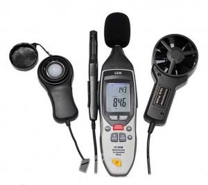 Шумомер/анемометр/люксметр/термогигрометр/термометр (5 в 1) CEM DT-859B