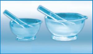 Ступка с пестиком стеклянная
