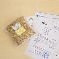 Эталонный образец сои с высоким содержанием белка, влаги, жира, определен в аккредитованной лаборатории
