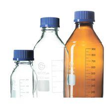 Банки для реактивов с делениями и винтовой пластмассовой крышкой EximLab