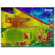 термограмма на дисплее тепловизора FLIR E5-XT (160x120)