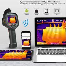 профессиональный тепловизор (384x288) с WiFi WALCOM HT-H8 для энергоаудита