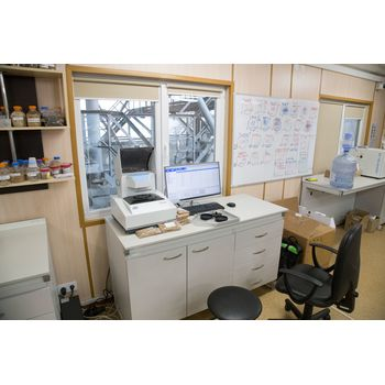 Рабочее место для определения качественных показателей (экспресс анализ) в лаборатории зернового терминала